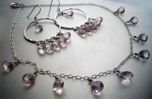 Joanne Necklace in Morganite Quartz