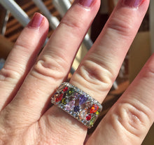 Load image into Gallery viewer, Multi-Color CZ Ring, 9, OOAK