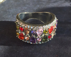Multi-Color CZ Ring, 9, OOAK