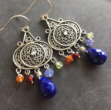 Load image into Gallery viewer, Nirvana Earrings, Lapis Lazuli
