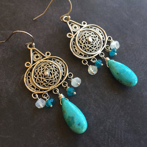 Nirvana Chandeliers with Navajo Turquoise