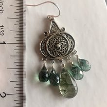 Load image into Gallery viewer, Nirvana Earrings, Rutilated and Mystic Green Quartz