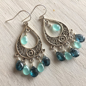 Kyanite Blue Hues Chandelier Earrings