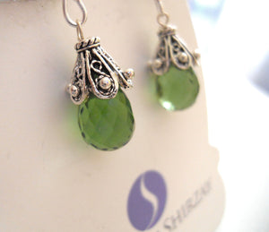 Greenery, Pantone's Color of the Year, Cool Olive Empire Earrings