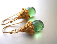 Load image into Gallery viewer, Greenery, Pantone's Color of the Year, Cool Olive Empire Earrings