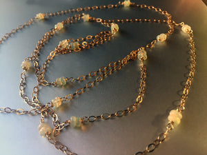 Opals by the Mile Fiery Welo Opal Necklace, metal choices