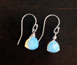 Opalite Trillion Teeny Earrings