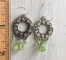 Load image into Gallery viewer, Peridot Circle Chandelier Earrings