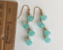 Load image into Gallery viewer, Chalcedony Peruvian Blue Onion Dangle Earrings, Metal Options