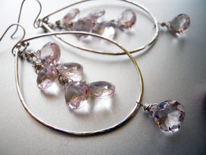 Pink Diamond Double Decker Hoops