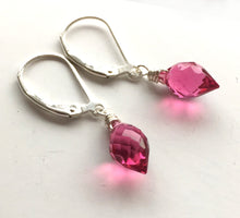 Load image into Gallery viewer, Tourmaline Pink Dewdrops, Quartz, Metal and Earwire Options