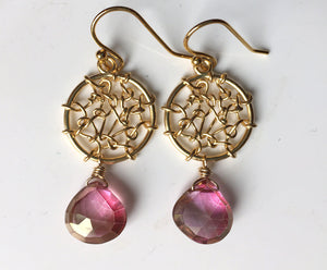 Dreamcatcher Earrings in Posy Mystic Quartz