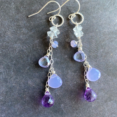 Lavender Love Dangle Earrings, Limited quantity