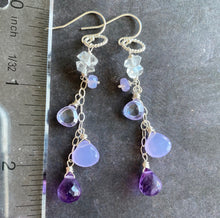 Load image into Gallery viewer, Lavender Love Dangle Earrings, Limited quantity