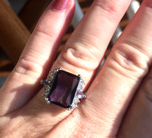 Load image into Gallery viewer, Amethyst Purple Fun Ring, size 7.25, OOAK