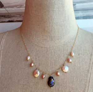 Paradise Freshwater Pearl Necklace, Metal options