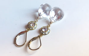 Queen for the Day, Vintage 1950's Swarovski Crystal and Opal Rock Crystal quartz