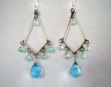 Load image into Gallery viewer, Rooftop Boho Opal Teardrop Chandelier Earrings