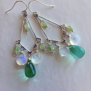 Anastasia Green Apatite Quartz and Moonstone Chandeliers