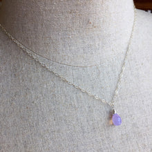 Load image into Gallery viewer, Lavender Scorolite Teardrop Necklace, 3 metal options