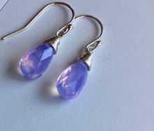 Load image into Gallery viewer, Lavender Scorolite Teeny, faceted pear, 3 metal and earwire options