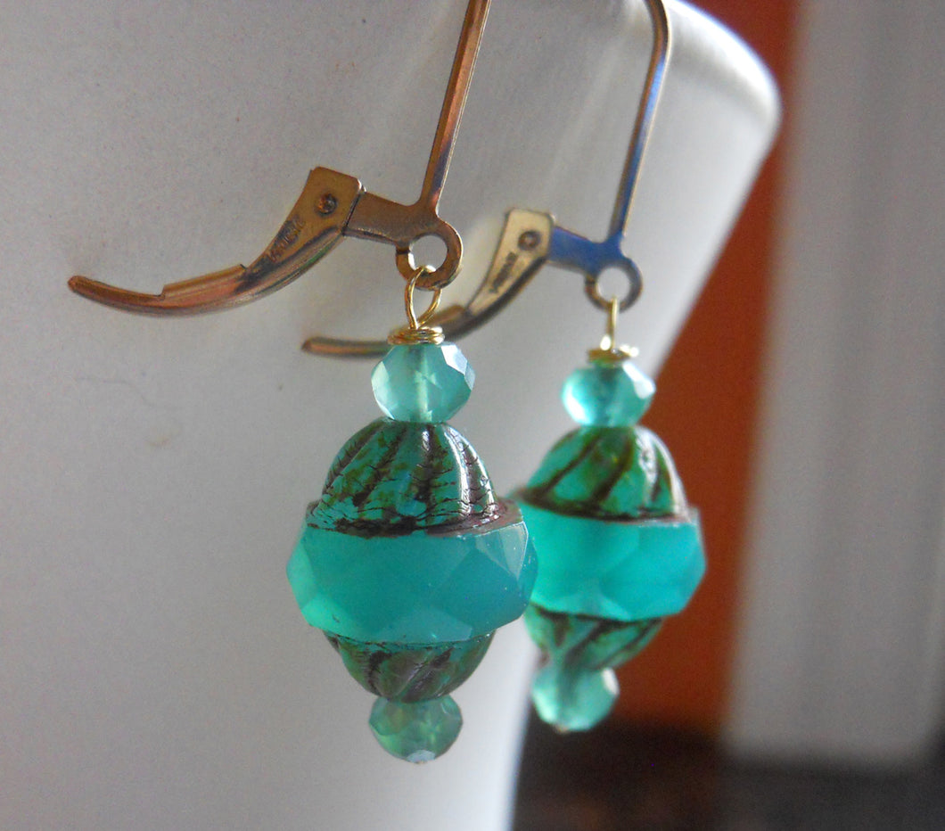 Sea Time Earrings - Gold Filled