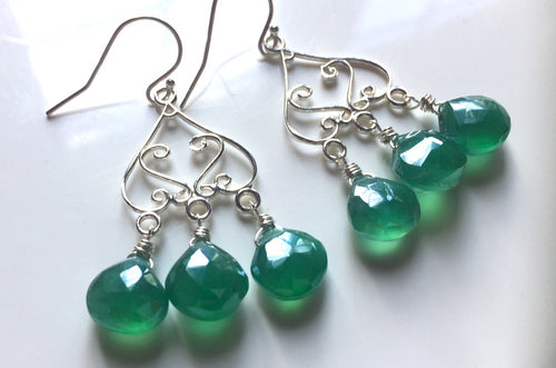 Shimmery Emerald Chandeliers