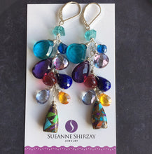 Load image into Gallery viewer, Something to Write Home About Colorful Cascade Earrings, Metal choices