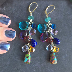 Something to Write Home About Colorful Cascade Earrings, Metal choices
