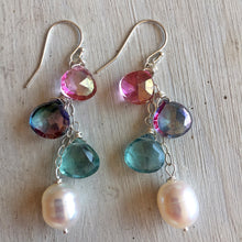 Load image into Gallery viewer, A Bit of Spring Shimmer Cascade Earrings