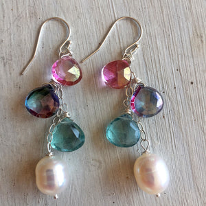 A Bit of Spring Shimmer Cascade Earrings