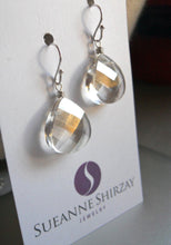 Load image into Gallery viewer, Silvery Swarovski Crystal Earrings