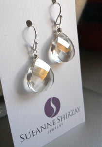 Silvery Swarovski Crystal Earrings