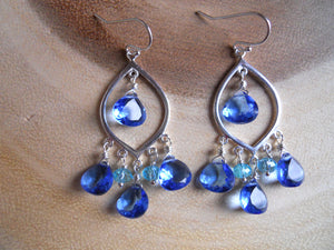 Tantalizing Tanzanite Blue Earrings - Sterling
