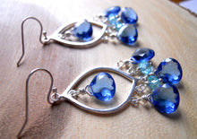 Load image into Gallery viewer, Tantalizing Tanzanite Blue Earrings - Sterling