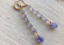 Load image into Gallery viewer, Tanzanite Dangle, Gold, Silver or Rose Gold