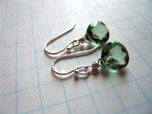 Load image into Gallery viewer, Amethyst Green Earrings - Sterling or Gold Available