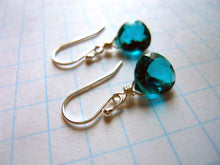 Load image into Gallery viewer, Teeny Paraiba Blue Earrings - Sterling or Gold Available