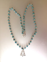 Load image into Gallery viewer, Christmas Tree Necklace with Rough Emeralds