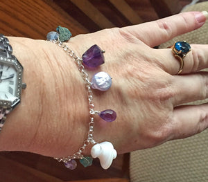 Whimsy Hawaiian Trochus Shell  Bracelet, very limited quantity, adjustable up to 9""