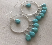 Load image into Gallery viewer, Jenn Hoops in Turquoise