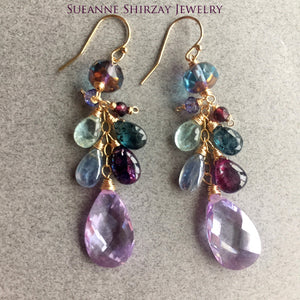 Pale Violet Whimsy Earrings, Limited edition