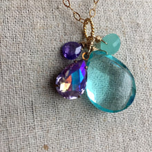 Load image into Gallery viewer, Violets in Springtime Cluster Necklace