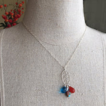 Load image into Gallery viewer, Catch a Wave Turquoise Trio Necklace