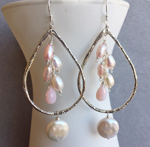You Complete Me! Pearl Artisan Hoops, backorder date noted