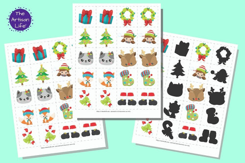 Christmas Matching & Memory Game for Toddlers and Preschoolers