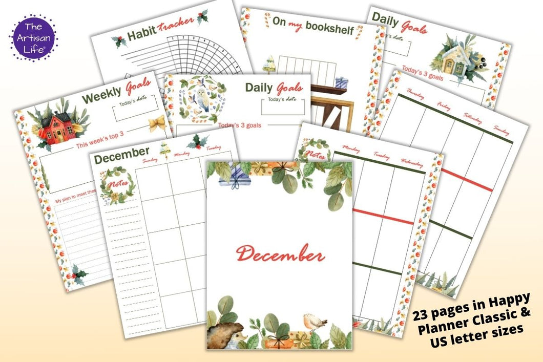 December Planner Printable Kit - Happy Planner Classic & US Letter