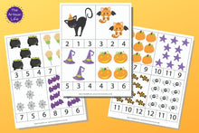 Load image into Gallery viewer, Halloween Counting Clip Cards 1-12