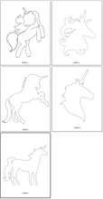 Load image into Gallery viewer, Unicorn Templates