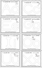 Load image into Gallery viewer, Alphabet Play Dough Mats - Long & Short Vowels